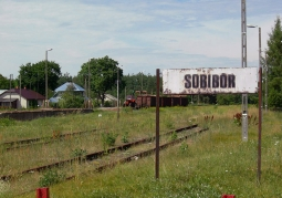 Stacja kolejowa w Sobiborze