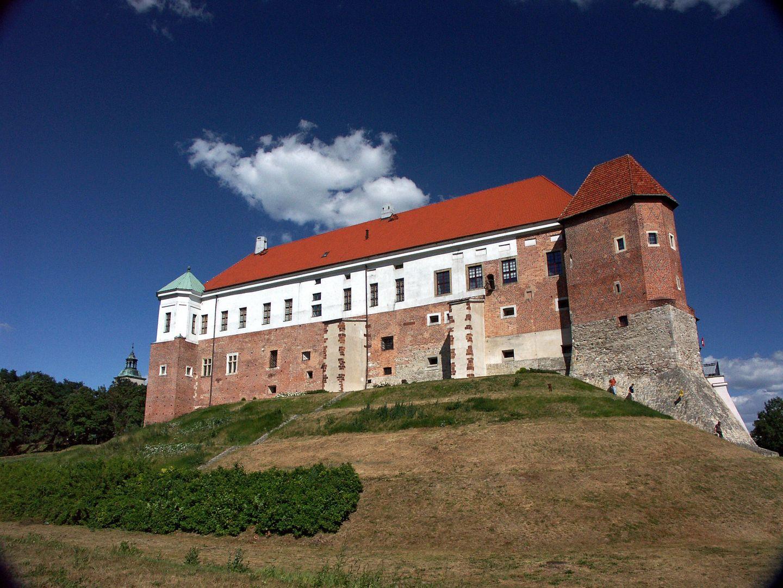 Ocalałe zachodnie skrzydło zamku