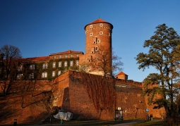 Mury zamku o zachodzie słońca