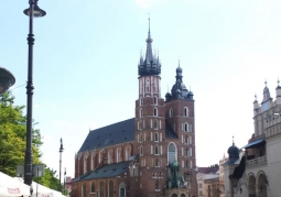 Kościół Mariacki z oddali
