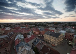 Panorama of Lublin during the Carnival of Artistic Masters