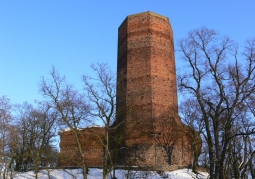 View of the tower in winter