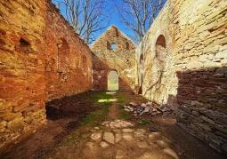 Wnętrze cerkwi w Krywnem