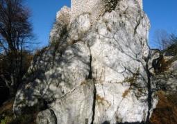 Ruiny zamku na skale wapiennej