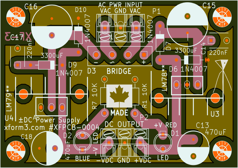 Dual DC Bipolar Power Supply PCB Routing
