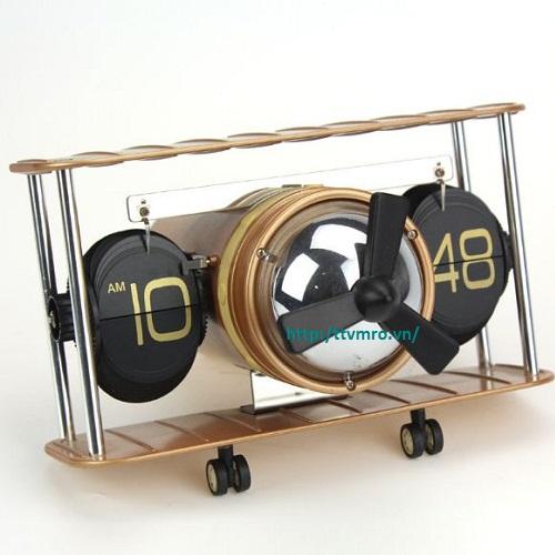 Đồng hồ lá lật hình máy bay HY-F029