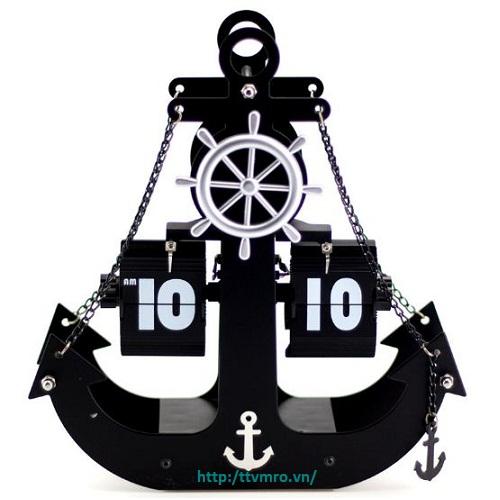 Đồng hồ lá lật hình neo HY-F042