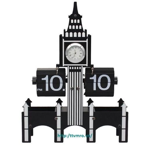 Đồng đồ lá lật hình tháp Big Ben HY-F08