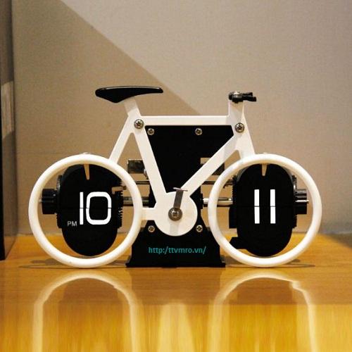 Đồng hồ lá lật hình xe đạp