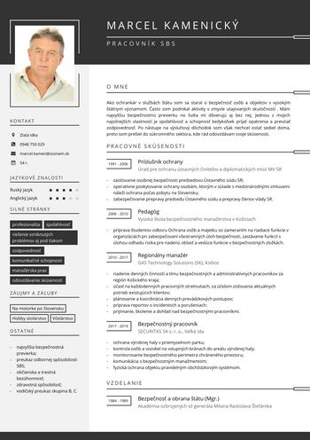 Životopis - Pracovník SBS