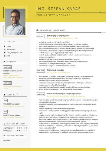 Životopis - Projektový manažér