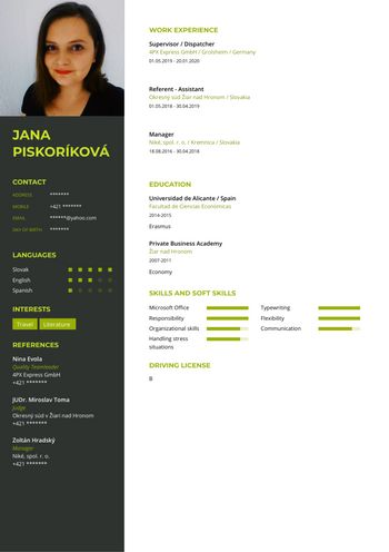 Životopis - Supervisor / Dispatcher