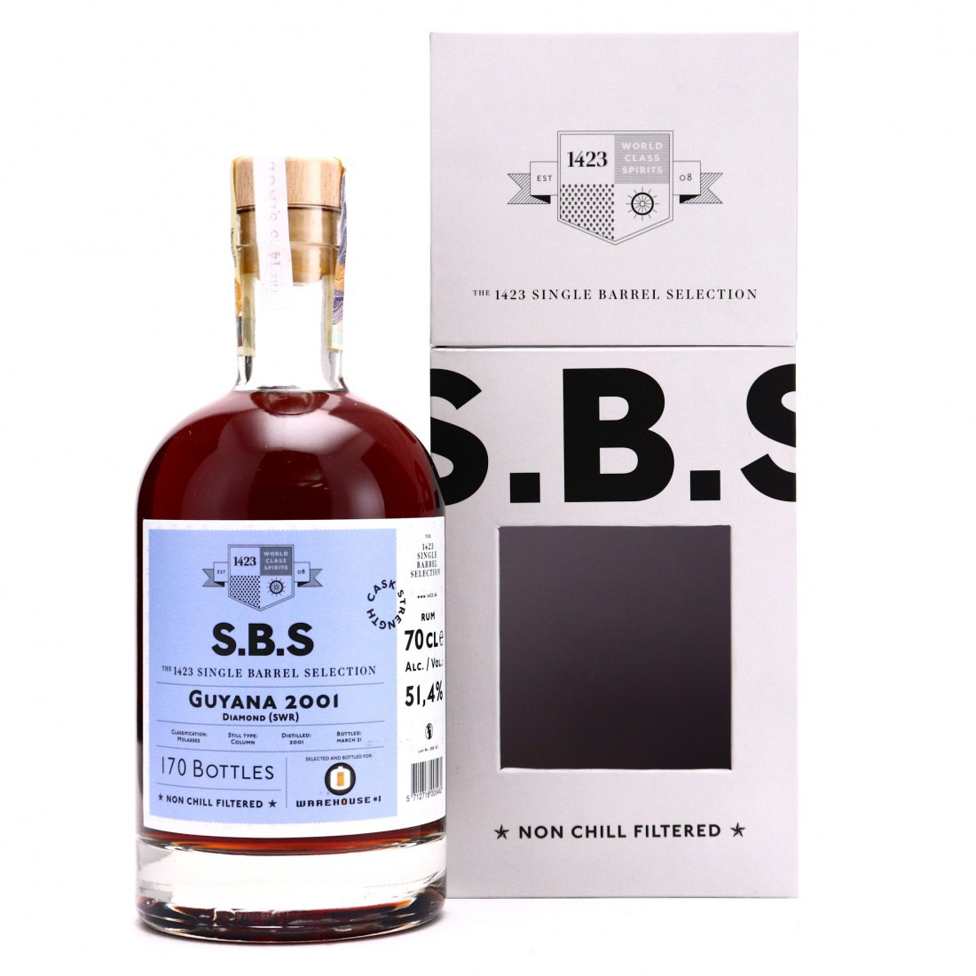 Bottle image of S.B.S Selected and bottled for Warehouse #1 SWR