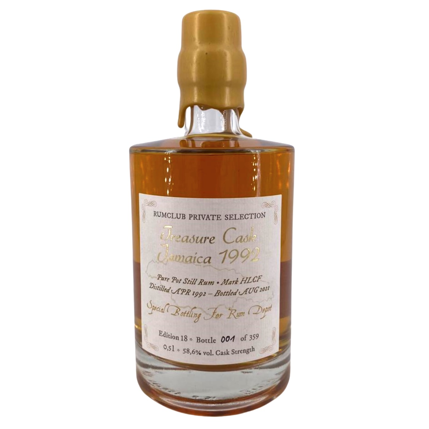 Bottle image of Rumclub Private Selection Ed. 18 Treasure Cask Jamaica HLCF