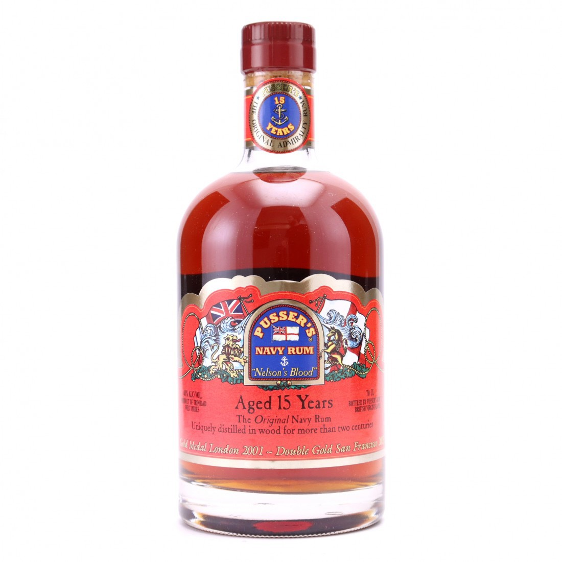 """Bottle image of """"Nelson's Blood"""" Aged 15 Years Navy Rum"""
